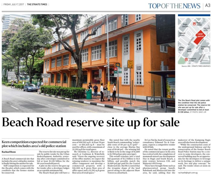 Beach Road Commercial Site For Sale