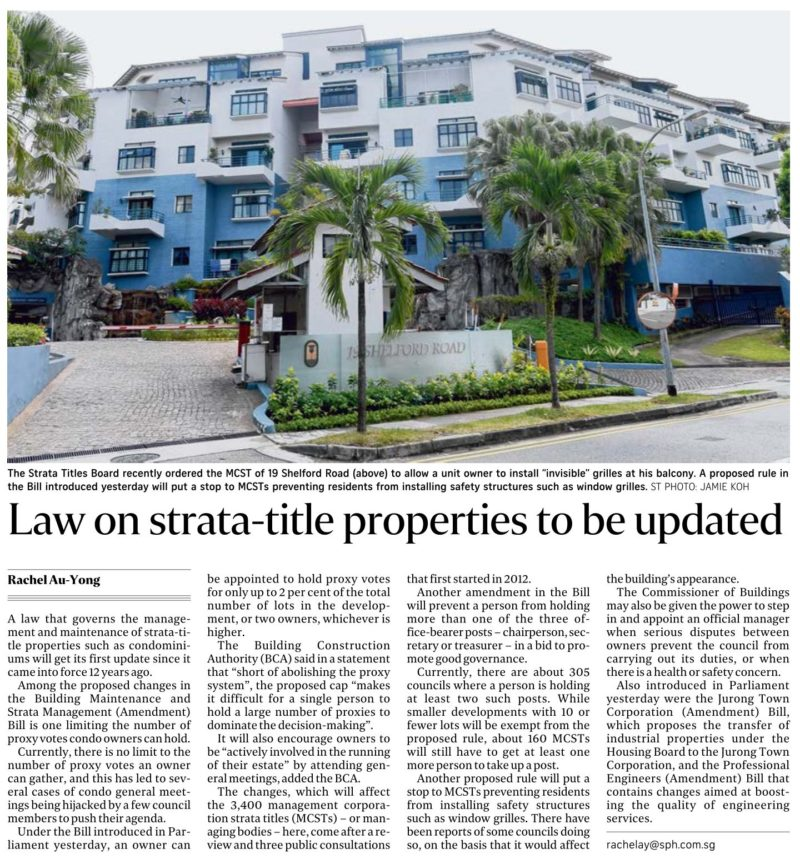 Updated Law For Strata-title Properties